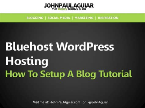 wordpress tutorial bluehost tutorial how to setup a blog with bluehost wordpress hosting