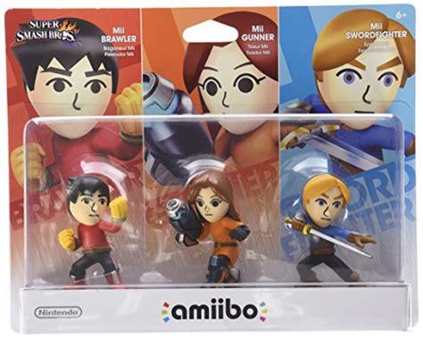 Amiibo Mii Brawler mii 3 pack brawler gunner swordfighter amiibo