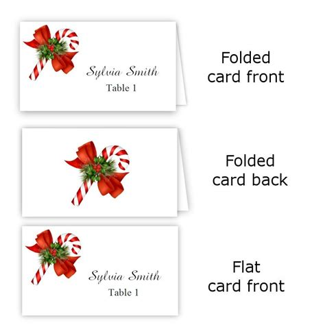 folded name card template word folded table tent flat place card templates