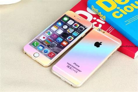 Tempered Glass Iphone 5 5s 6 6plus Depan Belakang apple iphone 5 5s 6 6plus tempered glass screen protector lcd rainbow colored glass