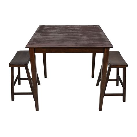 kitchen chairs from ashley furniture cart dining table and 75 off tall extendable dining room table set tables