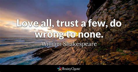 love  trust    wrong   william