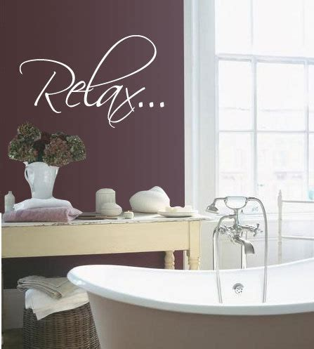 vinyl bathtub bath tub relax bathroom relax vinyl wall quote