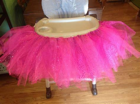 How To Make High Chair Tutu by Diy No Sew High Chair Tutu Nisha Stuff