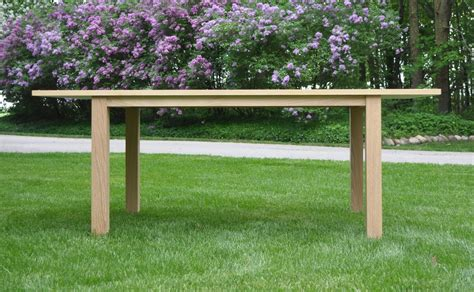buy a made white oak kitchen table made to order