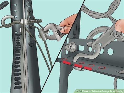 Tightening Garage Door Springs How To Adjust A Garage Door With Pictures Wikihow