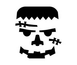 download this frankenstein pumpkin carving stencil and