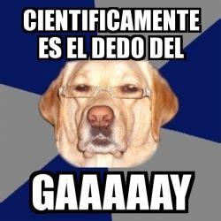 Gaaaaay Meme - meme perro racista cientificamente es el dedo del