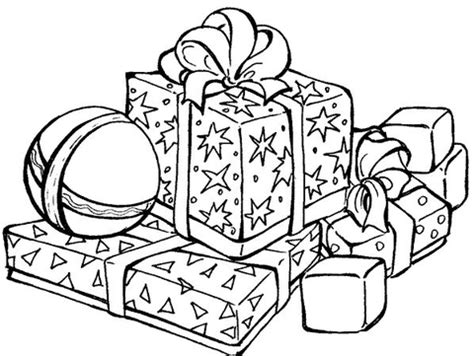 christmas gift drawing elementary school gifts coloring page free printable coloring pages