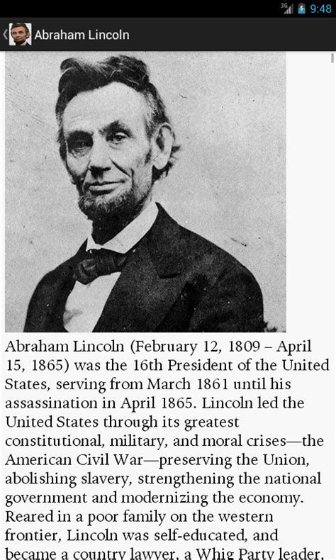 autobiography of abraham lincoln pdf download a lincoln biography quotes android apps on google play
