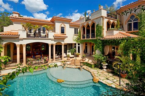 mediterranean pools home tour impeccable mediterranean waterfront home
