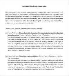 free apa bibliography template annotated bibliography template website