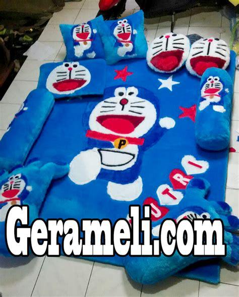 Karpet Bulu Doraemon karpet bulu doraemon lompat balajar menjahit karpet bulu