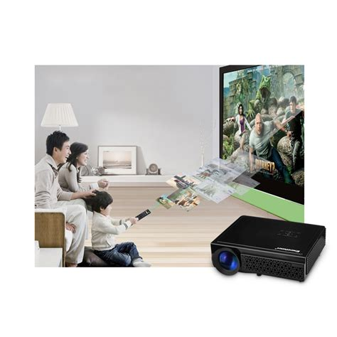 Home Theater Multimedia Nvc hd 1080p home theater multimedia led 3d projector 2500 lumens usb hdmi vga