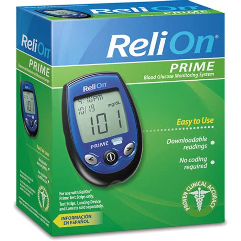 Monitor Relion relion prime blood glucose monitoring system blue