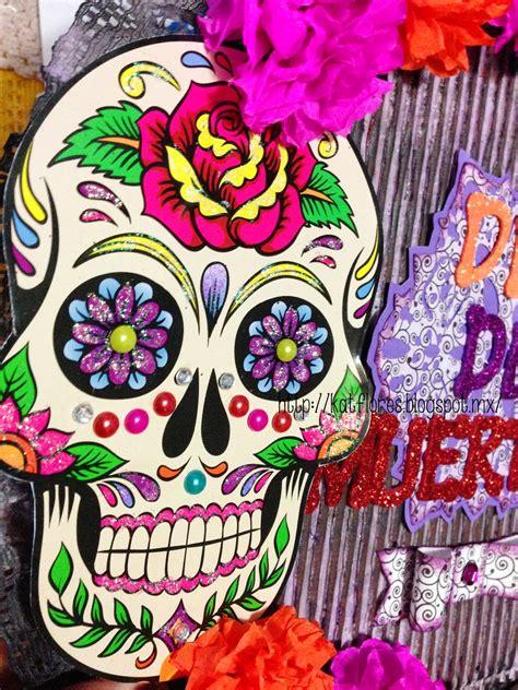 imagenes de calaveras decoradas con diamantina kat flores corona d 237 a de muertos