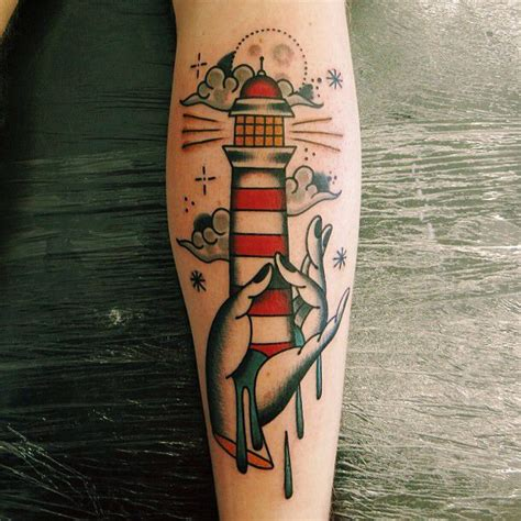 traditional lighthouse tattoo 45 neo traditional lighthouse tattoos