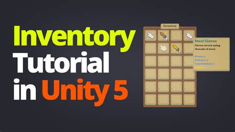 construct 2 inventory tutorial inventory system tutorial in unity 5 part 1 youtube