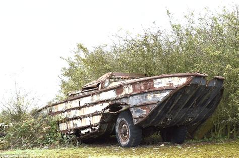 boat trailer wheel frozen vehicle graveyard of military vehicles dating back to