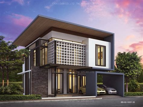 three story home plans modern style living area 155 sq m