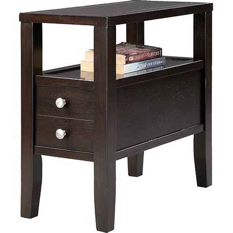 table with drawers walmart traditional dark espresso with 2 drawers side end table