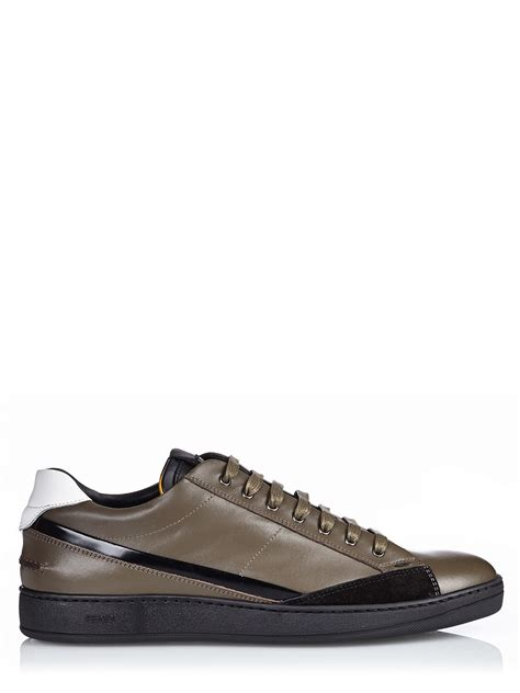 fendi sneakers fendi shoes in green for olive lyst