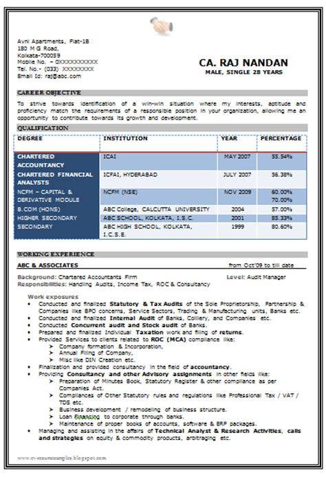 resume format in word for ca articleship 10000 cv and resume sles with free beautiful resume format in word doc with