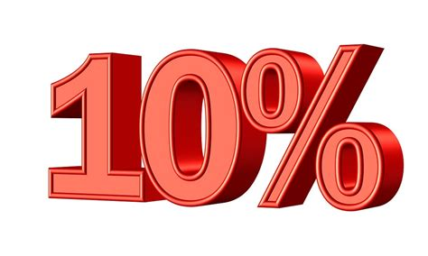 10 percent more free answrme free illustration ten 10 percent statistic money