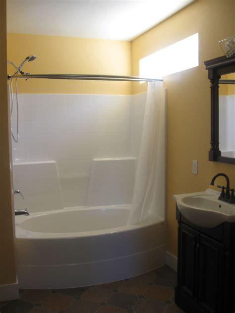 tub  shower combo acrylic units enclosed  piece