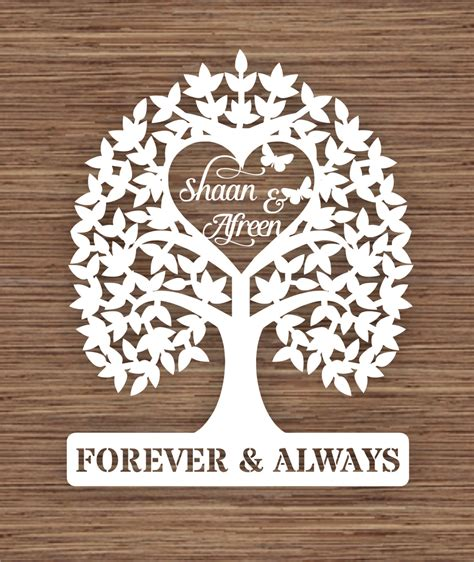 introductory price personalised names wedding tree gift