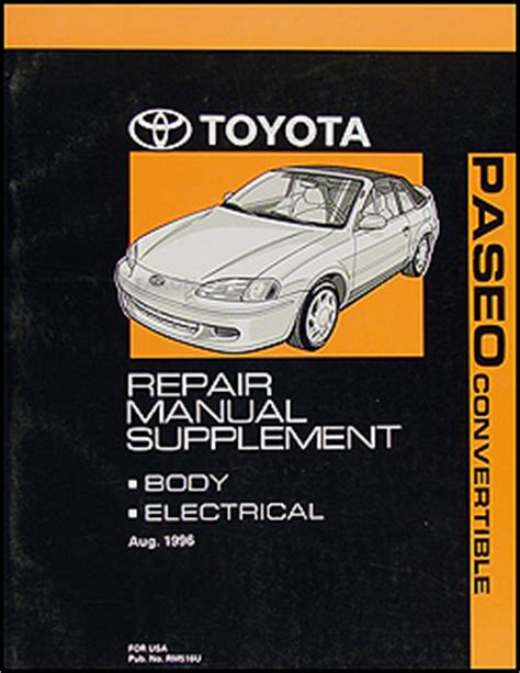 car repair manuals online free 1996 toyota paseo transmission control 1996 toyota paseo repair shop manual original