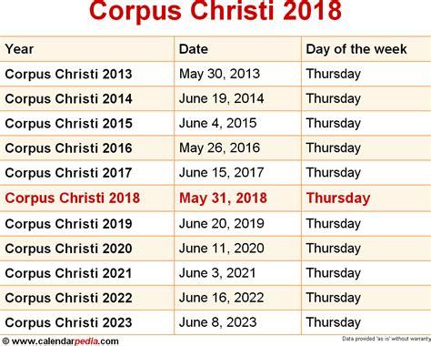 Corpus Christi 2018 When Is Corpus Christi 2018 2019 Dates Of Corpus Christi