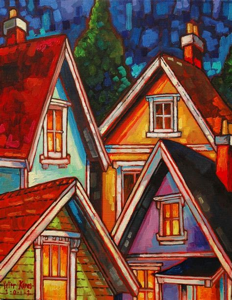 acrylic painting houses november 2012 the and co