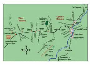 map arizona sedona arizona map showing sedona