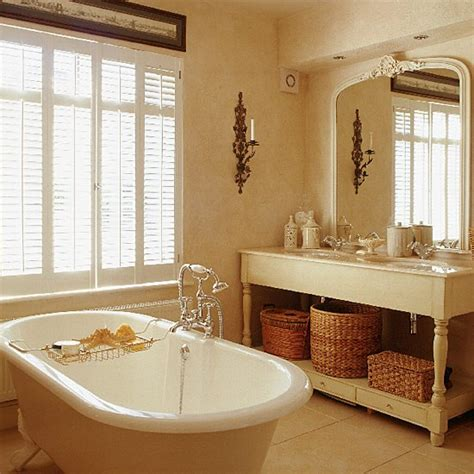 classic neutral bathroom with shutters housetohome co uk