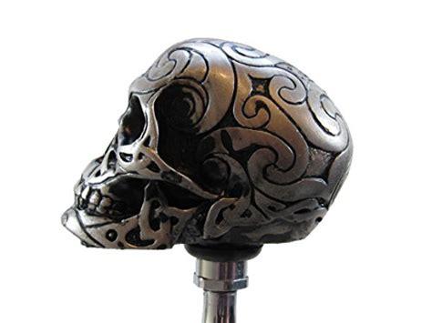 tattoo fixers zombie knob silver tone carved celtic zombie tattoo skull head hot rod