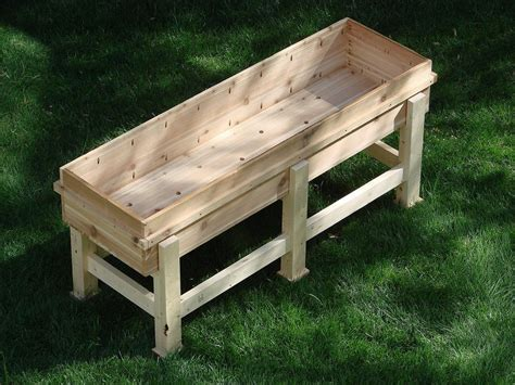 How To Build Large Planter Boxes by Diy Recycled Wood Garden Planter Boxes With Legs For Patio