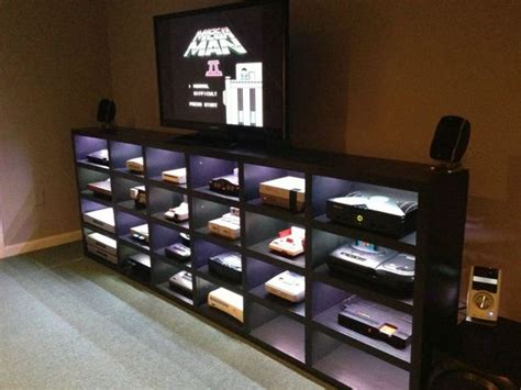 video game storage ideas homemade video game cabinet damn cool pictures