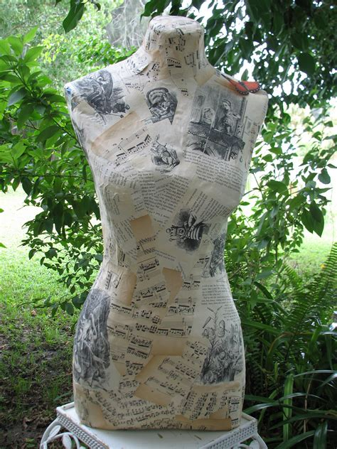 How To Make A Paper Mache Dress Form - paper mache dress form flickr photo