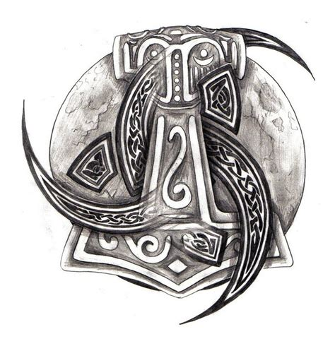 thor tattoo designs thors hammer and celtic tribal by zaphrozz deviantart