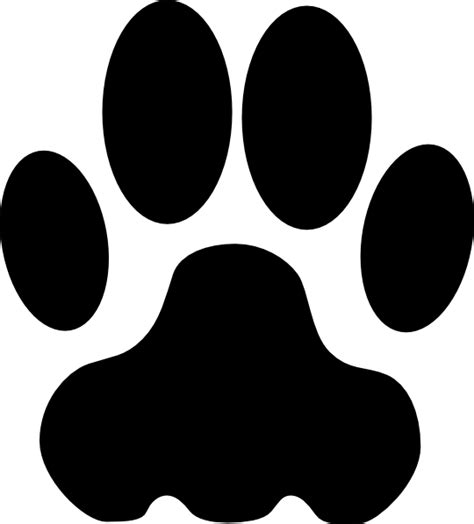 paw clipart paw clip at clker vector clip royalty free domain