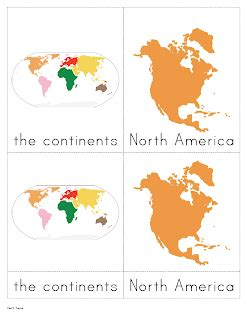 montessori printable continents the helpful garden continents nomenclature cards