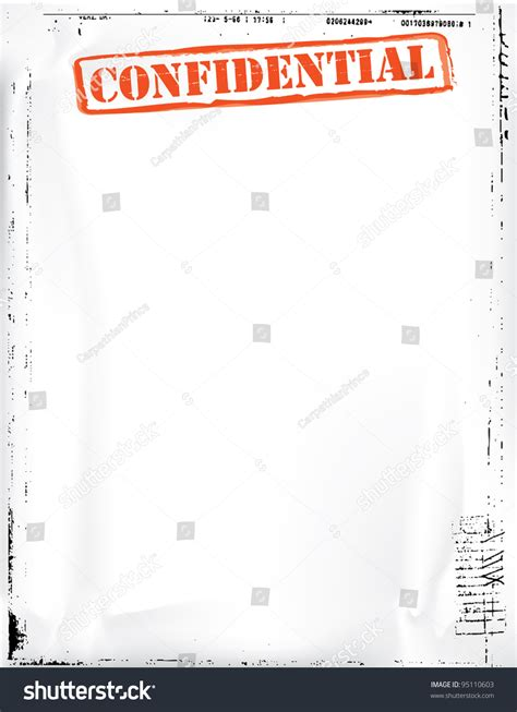 confidential document template stock photo 95110603