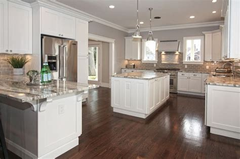 Is Engineered Hardwood For Kitchens by Traditional Kitchen With Hudson Valley Lighting 5109 Pn