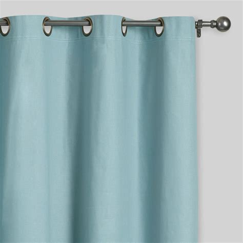 Blue Grommet Curtains Blue Grommet Top Curtains Set Of 2 World Market