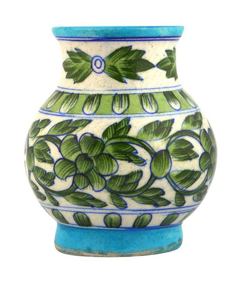 ceramics home decoratives nidhish crafts blue pottery decorative matka buy nidhish
