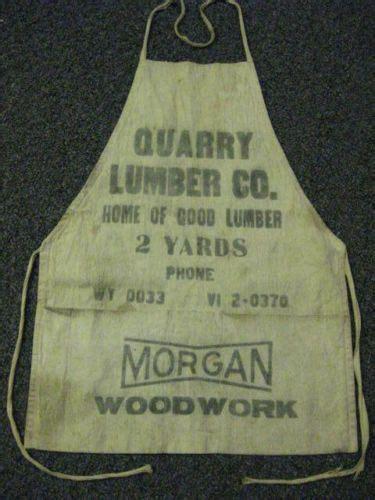 vintage  quarry lumber  wyoming canvas shop apron