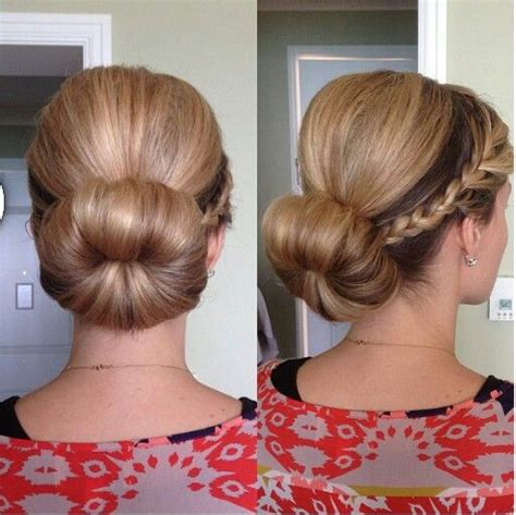 how to back your braids in doughnut bun by the sife the head bun braid and braided sock buns on pinterest