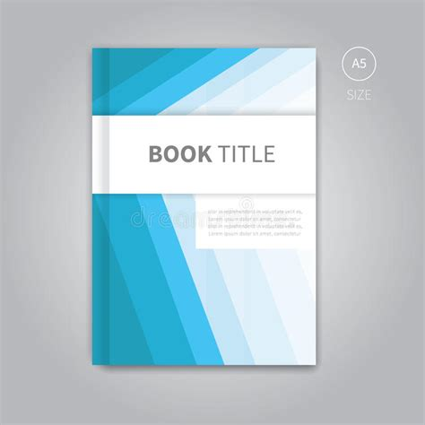layout workbook free download vector book cover template design stock vector