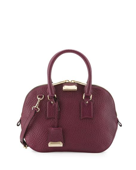 Burberry Dome Satchel by Burberry Small Domed Zip Satchel Bag Magenta
